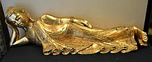 Large Gold Gilt Resting Buddha