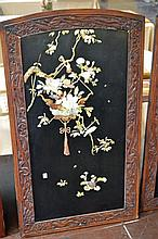 Oriental Bone and Stone Inlaid Wall Panel #2