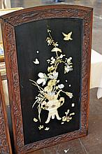 Oriental Bone and Stone Inlaid Wall Panel #3