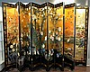 12 Panel Black Lacquer Oriental Coromandel Screen
