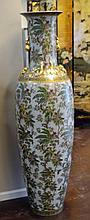 Large Avian Decorated Chinese Floor Vase