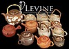 (13) Pcs. Asian Banko Ceramic Pottery Teapot Lot