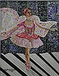 Jay Michael Schwartz Ballerina Mixed Media/Canvas