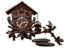German Black Forest Hand Carved Cuckoo Clock