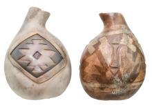 2 Pc. Signed Steven Kaye Pottery Vase Lot