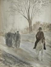 June Luebke Signed Watercolor