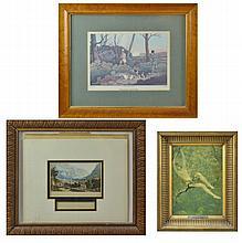 3 Pc. Print Lot w/ Henry Alken & George Baxter