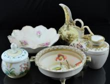 6 Pc. China & Porcelain Lot w/ R.S. Prussia