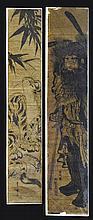 PAIR Japanese Woodblock Pillar Print Lot