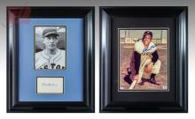 Willie Mays & Lefty Grove Autographed Photograph Lot