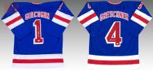 Ed Giacomin & Greschner New York Rangers Jerseys