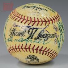 1959 New York Yankees Team Autographed Baseball
