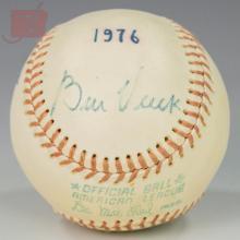 Vintage Autographed Baseball Pair w/ Bill Veeck
