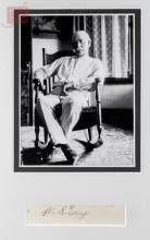 Wyatt Earp Autograph w/ Framed Photograph