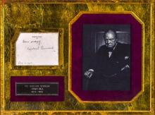 Framed Autograph of Sir Winston Churchill