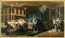 Paul Delaroche (1797-1856) Cardinal Mazarin Dying