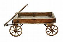 Antique White Wagon Works Coaster Express Wagon