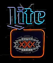 Miller Lite Super Bowl XXX Neon Advertising Sign