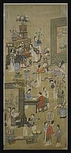Antique Signed Asian Painted Silk Panel #1