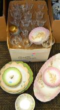 Box Lot of Porcelain Dishes Including Napoleon and KPM Bowls