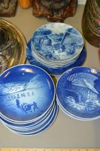 Lot of 19 Royal Copenhagen and Berlin Design Christmas Collectible Plates