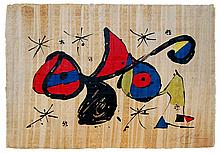 Joan Miro (1893-1983) Homage a Joan Miró Color Lithograph on Papyrus