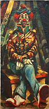 Paul F. Keene Jr. (1920 - 2009) Clown Painting