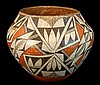 Antique Acoma Polychrome Pottery Vessel #1