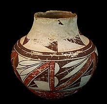 Antique Acoma Polychrome Pottery Vessel #3