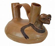 South American Zoomorphic Wedding Vase