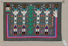 Alice Begay Woven Navajo Yei Rug with Museum Tag