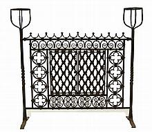 Antique Gothic Revival Fireplace Screen