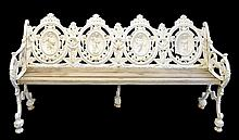Victorian Cast Iron Four Seasons Garden Bench