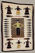 Hand Woven Native American Figural Rug