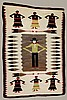 Hand Woven Native American Figural Rug