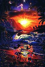 Christian Lassen (b. 1949) Disney Mickey Seaside Romance Giclee #1