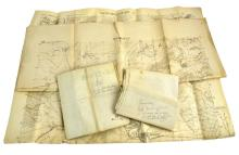 4 Pc. WWI French Map Lot  belonging to Russell Langdon