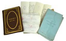 Ephemera w/ Military History of Loomis Langdon