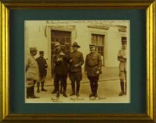 Framed Photograph w/ Major Langdon