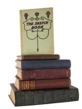 6 Pc Book Lot w/ The Sketch Book