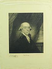 L. E. Faber Signed 1898 B. Rush Portrait Etching