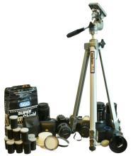 Canon AE-1 & Maxxum 400si Camera & Lens Lot