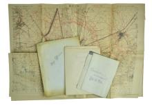 4 WWI Military Maps Belonging to Russell Langdon
