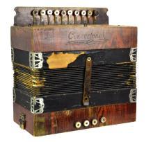 Antique Concertone Accordion w/ MOP Keys