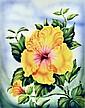 Original Ted Mundorff Hawaiian Floral Painting.