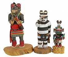 Three Vintage Hopi Kachinas