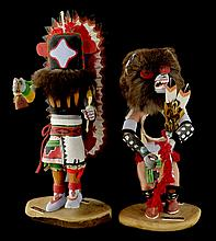 2 Native American Bill Wells Kachina Dolls