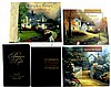 5 Books, (4) Thomas Kinkade, (1) Ralph L. Woods