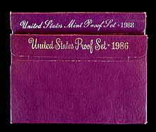 1986,1988 U.S. Mint Proof Set