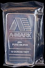 A-Mark 10 Troy Oz. .999 Silver Bullion